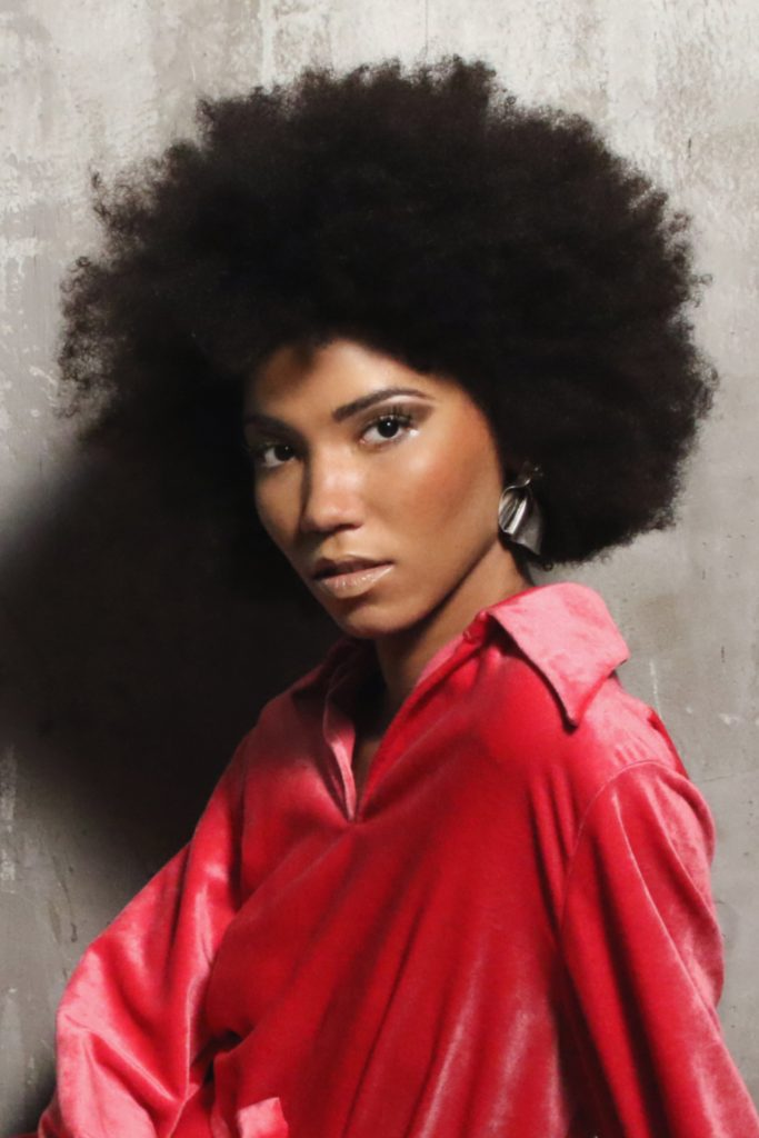Maria Laura modella afro Roma