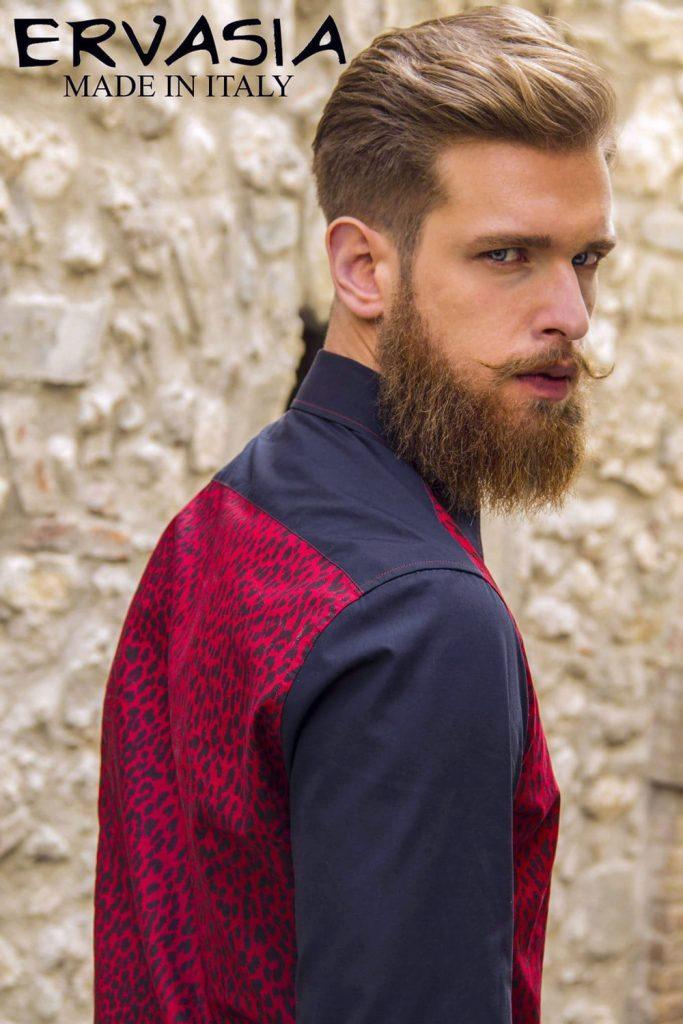 Simon red hair model fashion shooting  Roma e Milano