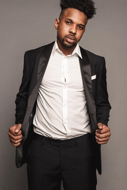 Francis black skinned model, colored model, black model modello di colore per spot pubblicità e servizi fotografici