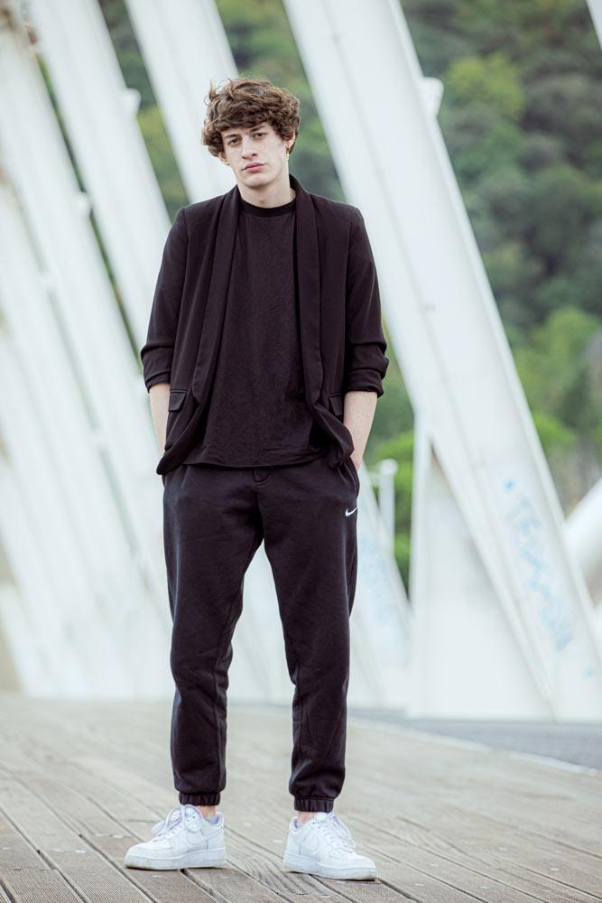Matteo G young model street casting model I am management