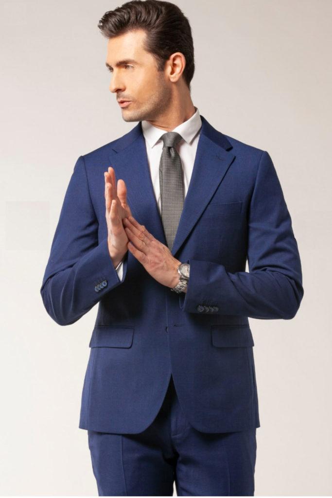 modello per abiti classici sartoria blue eyes model